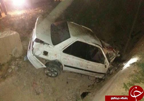 2 مصدوم در حادثه رانندگی محور قائمیه - کازرون