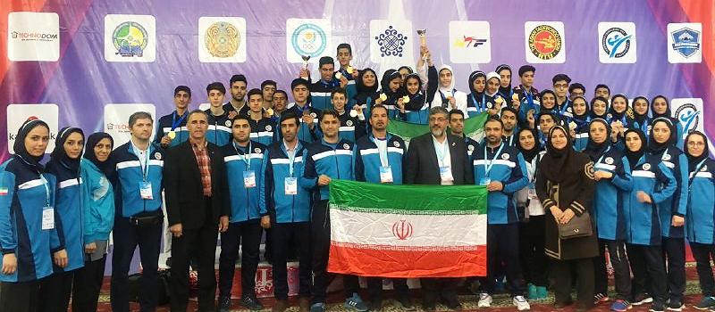 سکوی قهرمانی آسیا، زیر پای نوجوانان تکواندو ایران