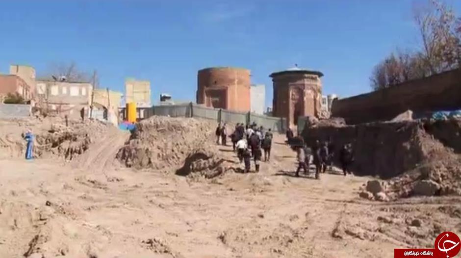 نگرانی شهروندان مراغه ای از حفاریهای محوطه گنبد کبود +تصاویر