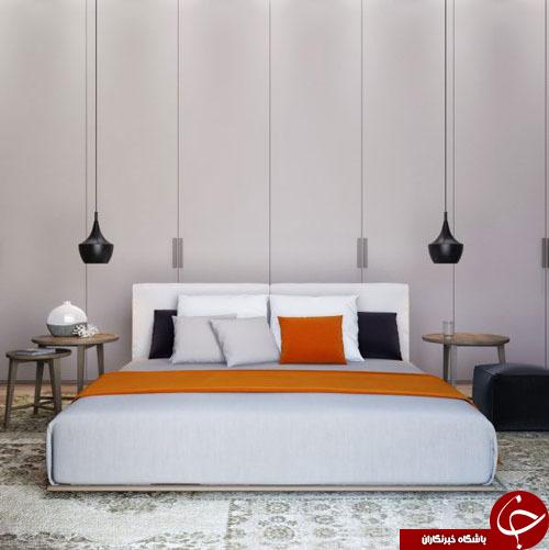 لامپ های زیبا و مدرن در دکوراسیون اتاق خواب +تصاویر