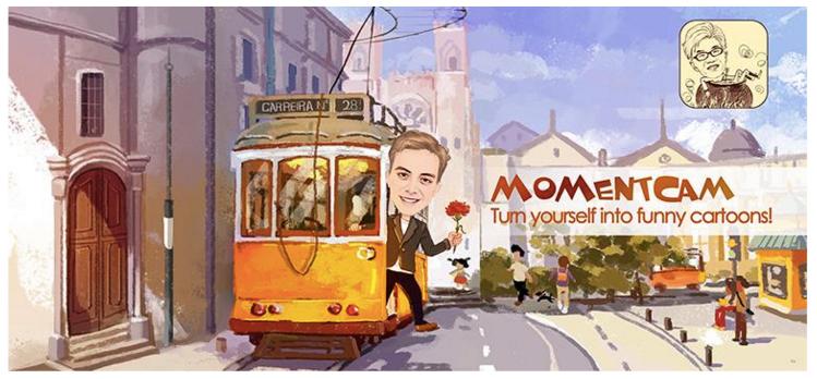 با دانلود MomentCam ؛عکس های خود راشبیه شخصیت های کارتونی کنید