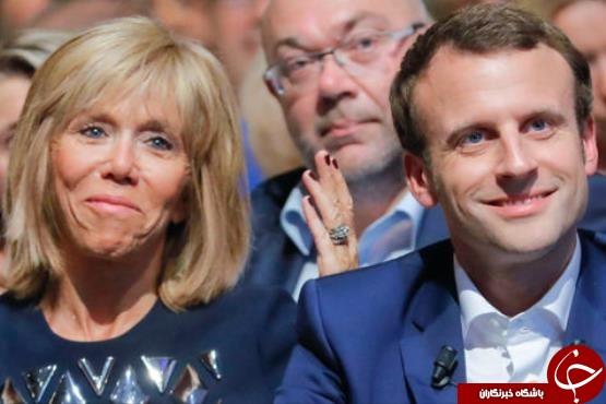 همسر امانوئل مکرون بیوگرافی امانوئل مکرون ازدواج جالب ازدواج با دختر بزرگتر اختلاف سنی در ازدواج اخبار فرانسه Emmanuel Macron