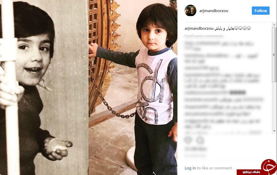 شباهت عجیب آقای بازیگر و پسرش+عکس
