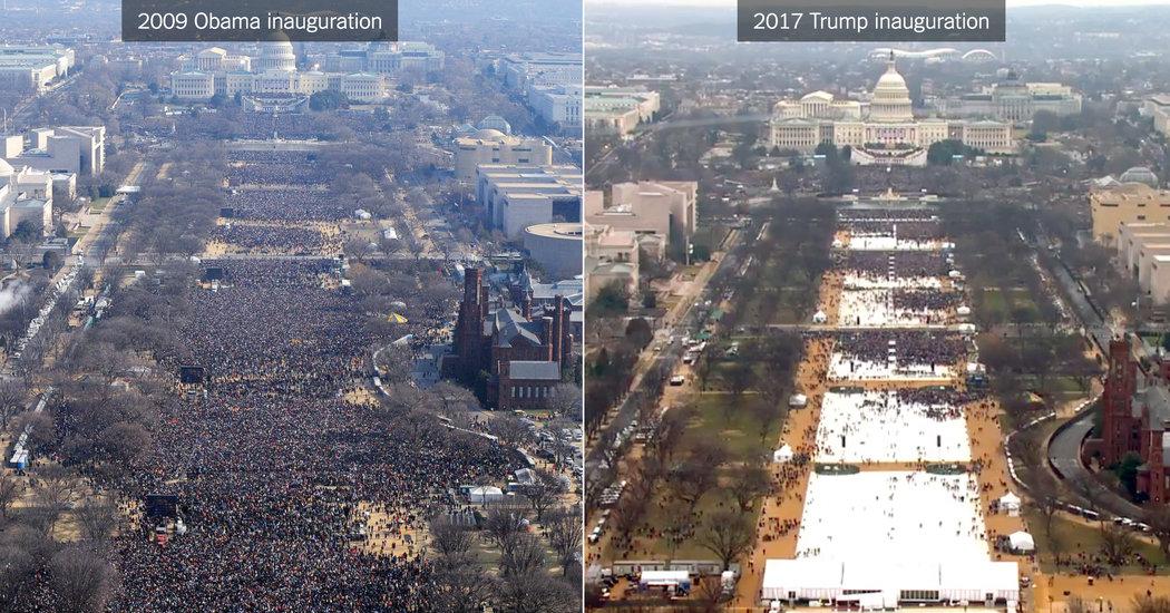 چه کسی دستور حذف عکس جنجالی مراسم تحلیف ترامپ را صادر کرد؟