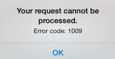 خطای 1009 در اپ استور اپل چیست؟ / تحریم یا مشکلی دیگر