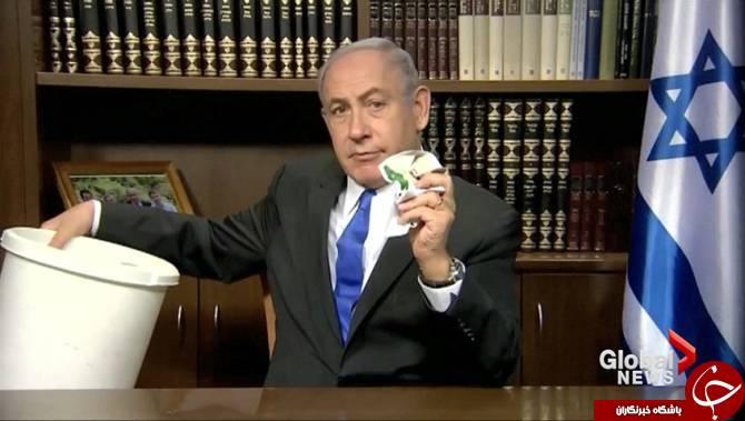 نتانیاهو خشمگین شد؛ به زباله انداختن منشور جدید حماس در مقابل دوربین!+ عکس