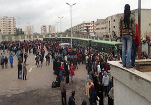 آغاز خروج نخستین گروه از افراد مسلح از شرق دمشق