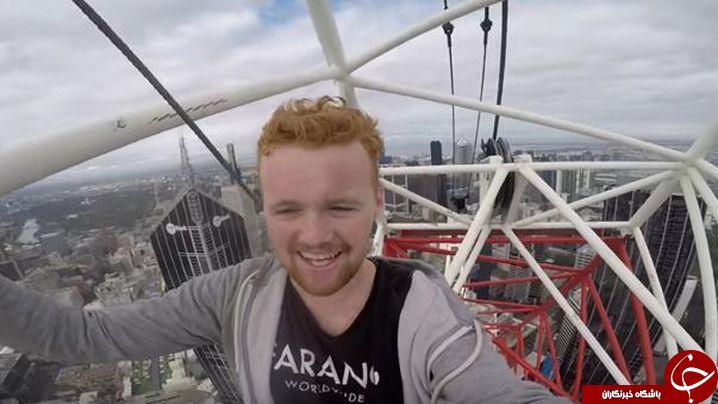 صعود مرگبار نوجوان انگلیسی به بالای جرثقیل 200 متری +فیلم