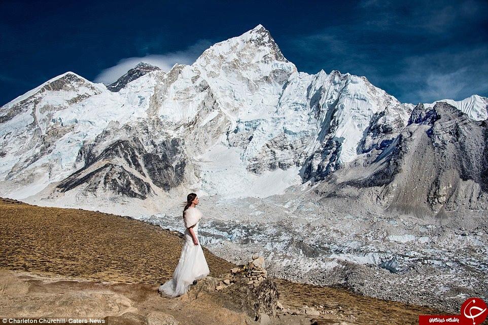 مراسم ازدواج در مرتفع ترین نقطه جهان + تصاویر