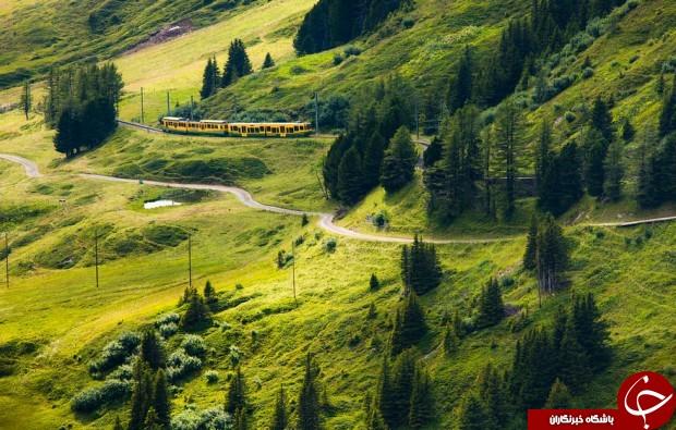 زیباترین راه آهن جهان +تصاویر