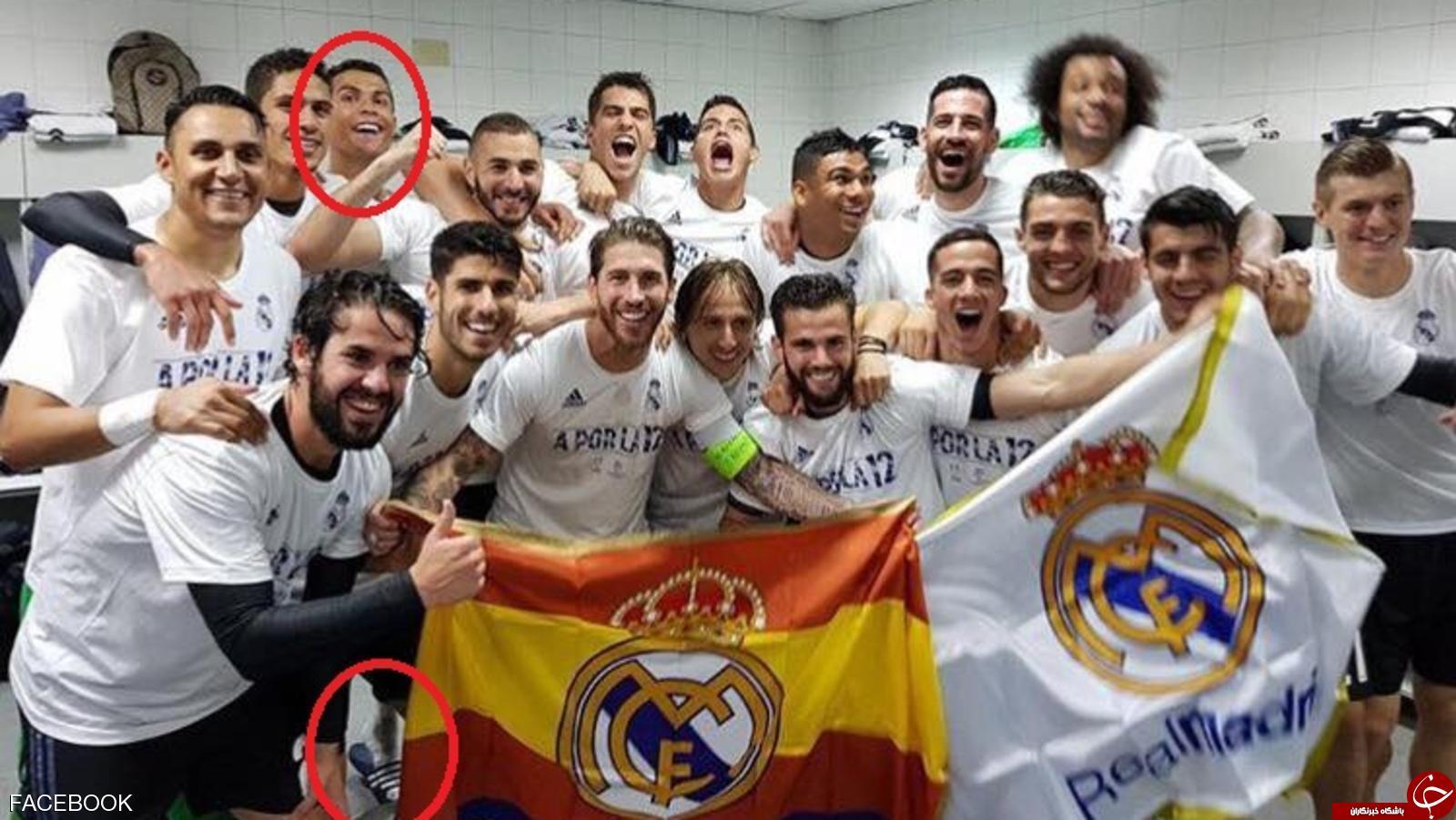 عکس هایی که دست فوتبالیست مشهور را رو کرد!