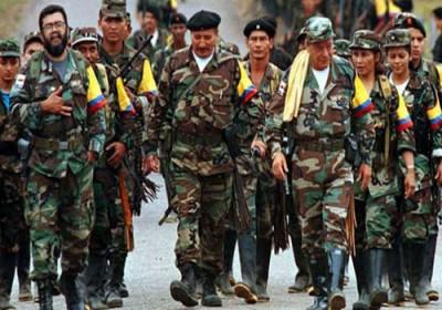 خلع سلاح نخستین گروه از شورشیان فارک در کلمبیا