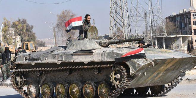 هنگامه آرامش در القابون با تخلیه شهر از تروریستها/ استحکامات داعش در دیرالزور، آماج حملات زمینی و هوایی ارتش سوریه + تصاویر