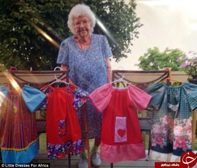 این پیرزن چه برنامه ویژه ای برای 100 سالگی خود دارد+ تصاویر
