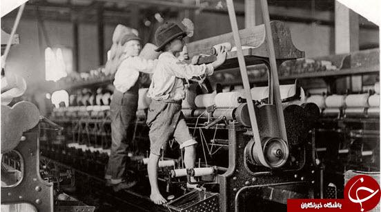 کار کودکان در کارخانهها در دهه 1910