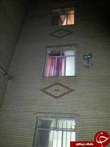 سقوط دختر نوجوان از طبقه سوم ساختمانی در تهران +عکس