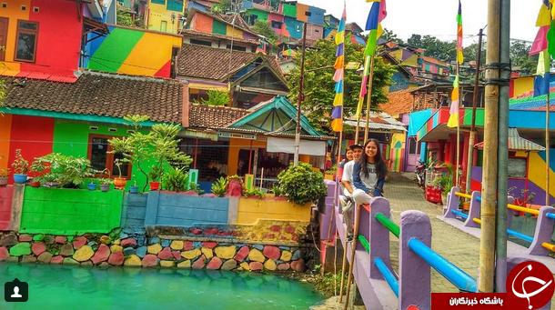تصاویر دیدنی از دهکده رنگین کمان در اندونزی