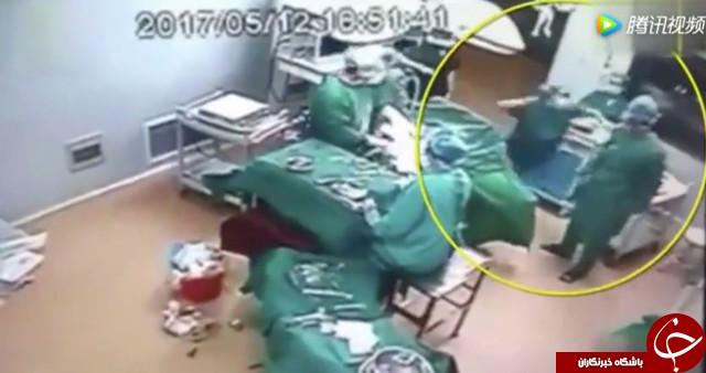 دعوای شدید در اتاق عمل و حین عمل جراحی + فیلم