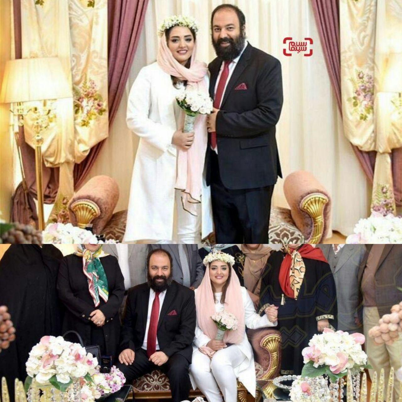 عکس عروسی نرگس محمدی و همسرش