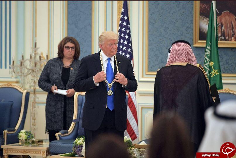 حواشی سفر ترامپ به عربستان/ از اعطای بالاترین نشان سعودی به ترامپ تا دست دادن ملک سلمان با ملانیا+ تصاویر