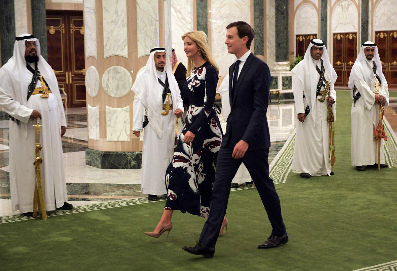 نگاه معنی دار درباریان سعودی به دختر ترامپ + عکس