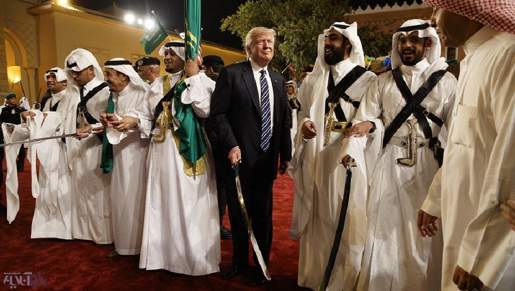 رقص شمشیر ترامپ با ملک سلمان+عکس