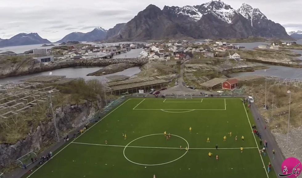 زیباترین زمین فوتبال جهان در این جزیره قرار دارد +تصاویر