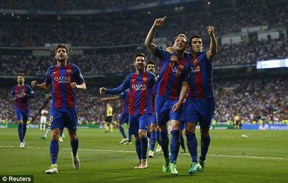رئال مادرید 2 - بارسلونا 3/لشگر تک نفره مسی برنابئو را فتح کرد