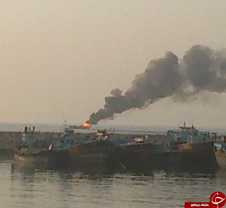 انفجار مرگبار لنج باری در اسکله + فیلم و تصاویر