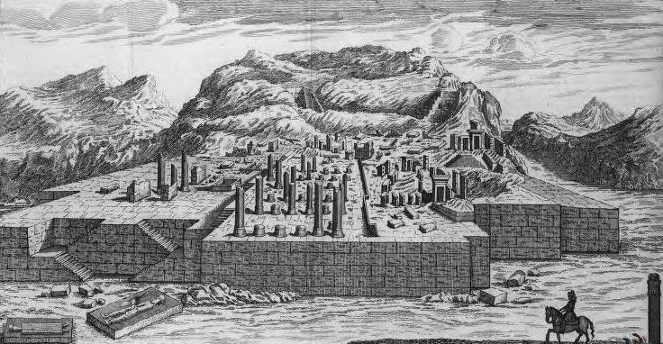 تصویری از تخت جمشید در 147 سال گذشته