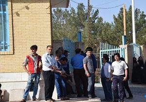 این بار تجمع کارگران کارخانه کاشی سهیل میبد یزد