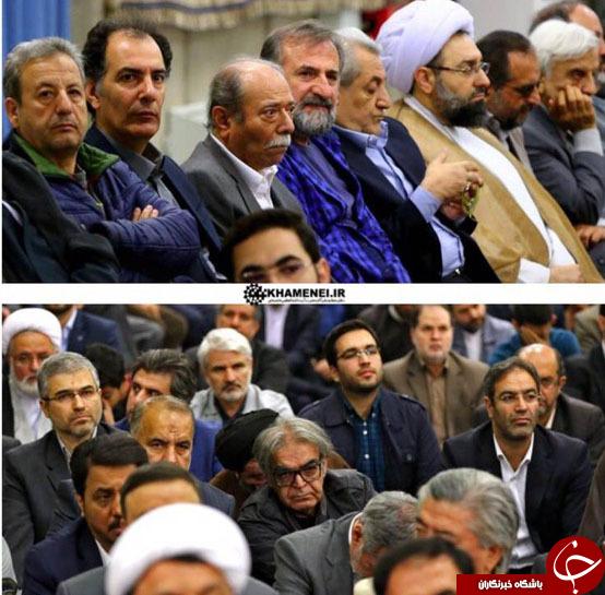 عکس/ حضور بازیگران سینما در دیدار امروز رهبرانقلاب