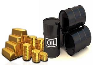 کاهش همزمان بهای نفت و طلا در بازارهای جهانی