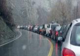 باشگاه خبرنگاران -ترافیک نیمه سنگین در باند جنوبی آزاد راه کرج_قزوین / بارش برف و باران در محورهای شمالی کشور