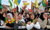 باشگاه خبرنگاران - تظاهرات مردم کوبانی در اعتراض به حملات هوایی ترکیه