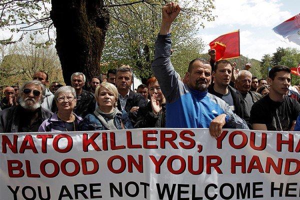تظاهرات مردمی در مخالفت با عضویت «مونته نگرو» در ناتو