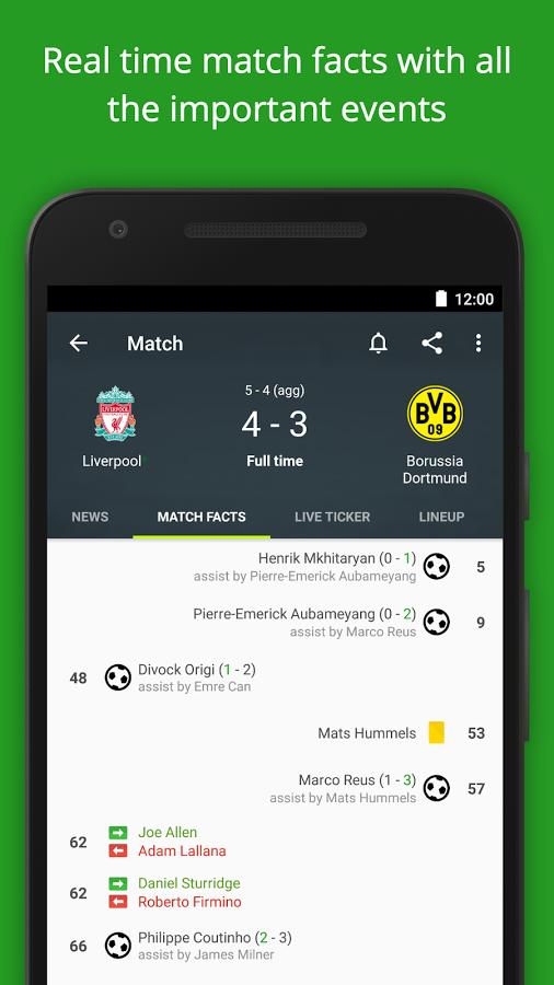 نتایج زنده دانلود Soccer Scores Pro - FotMob برای اندروید و ios / نرم قدیمی و پر