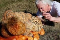 باشگاه خبرنگاران -تصاویر روز: از رنگآمیزی گربه زیبای سیبری تا حمایت از ترامپ با جوراب!