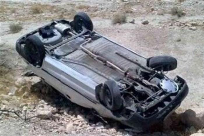 یک کشته در واژگونی خودرو پراید