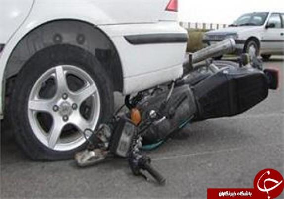 باشگاه خبرنگاران - 2 کشته در برخورد سمند با موتور سیكلت + عکس