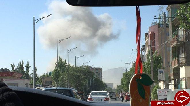 انفجار قوی نزدیک سفارتخانههای خارجی و دفتر<a href=http://www.sobheqazvin.ir > خبرگزاری</a> صدا و سیمای ایران در کابل+ عکس