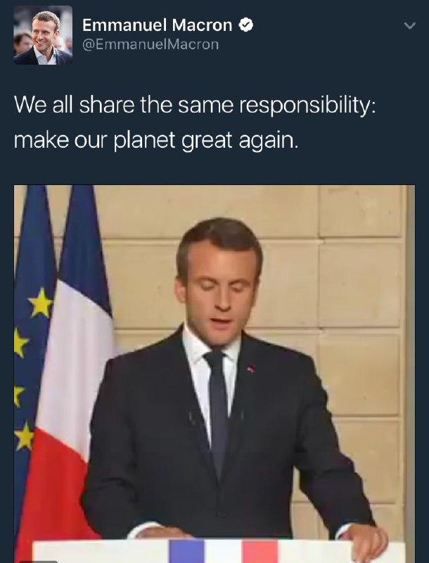 رئیس جمهور فرانسه ترامپ کنایه