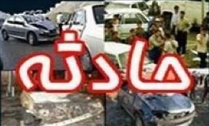 تصادف دو کامیون در جاده پلدختر _خرمآباد منجر به مجروح شدن یکی از رانندگان شد