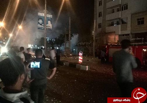 انفجار و آتش سوزی مهیب در شیراز + تصاویر