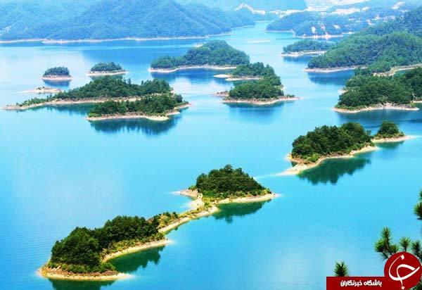 دریاچهای که کلکسیون جزیره هاست