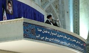 انگیزههایی برای تحریف شخصیت امام و انقلاب وجود دارد/ سازش با دشمن هزینه دارد/ مسئولین کشور هدفشان را راضی کردن دشمن قرار ندهند/ هیچ درنگی در تحقق وعده های داده شده به مردم صورت نگیرد