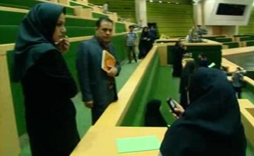 تصاویری از داخل مجلس پس از تیراندازی