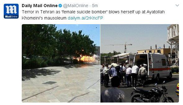 بازتاب حمله مسلحانه در مجلس و حرم مطهر امام خمینی (ره) در رسانههای جهان
