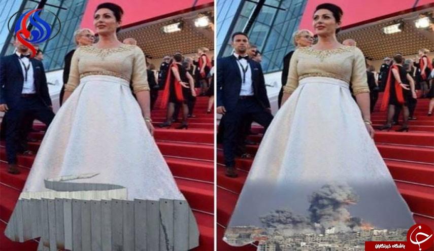 اعتراض خلاقانه به لباس جنجالی وزیر زن صهیونیست+ تصاویر