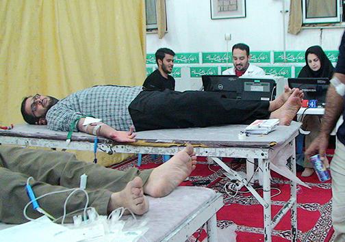 سنت حسنه اهدای خون در ماه مبارک +تصاویر